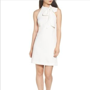 Vince Camuto White Crepe Dress